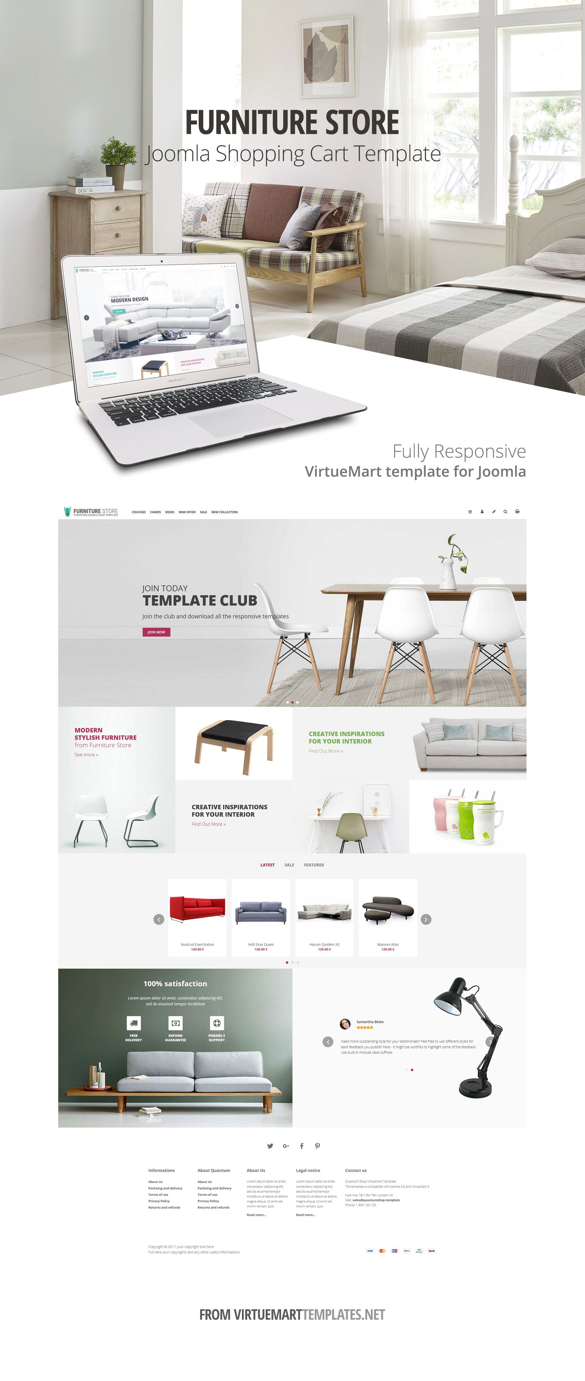 Furniture Store is a fully responsive Joomla shop template we