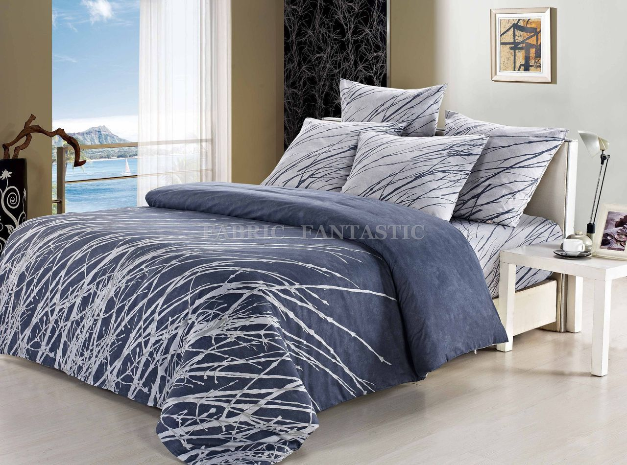 tree double queen king super king size bed duvet doona quilt cover