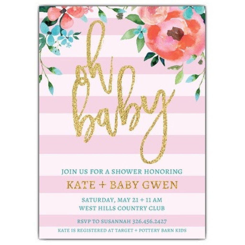 Invitation Wording Baby Shower