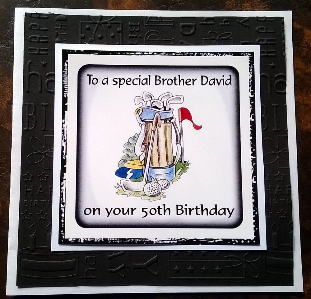 Handmade Personalised Birthday Card Golf Brother Grandad Son
