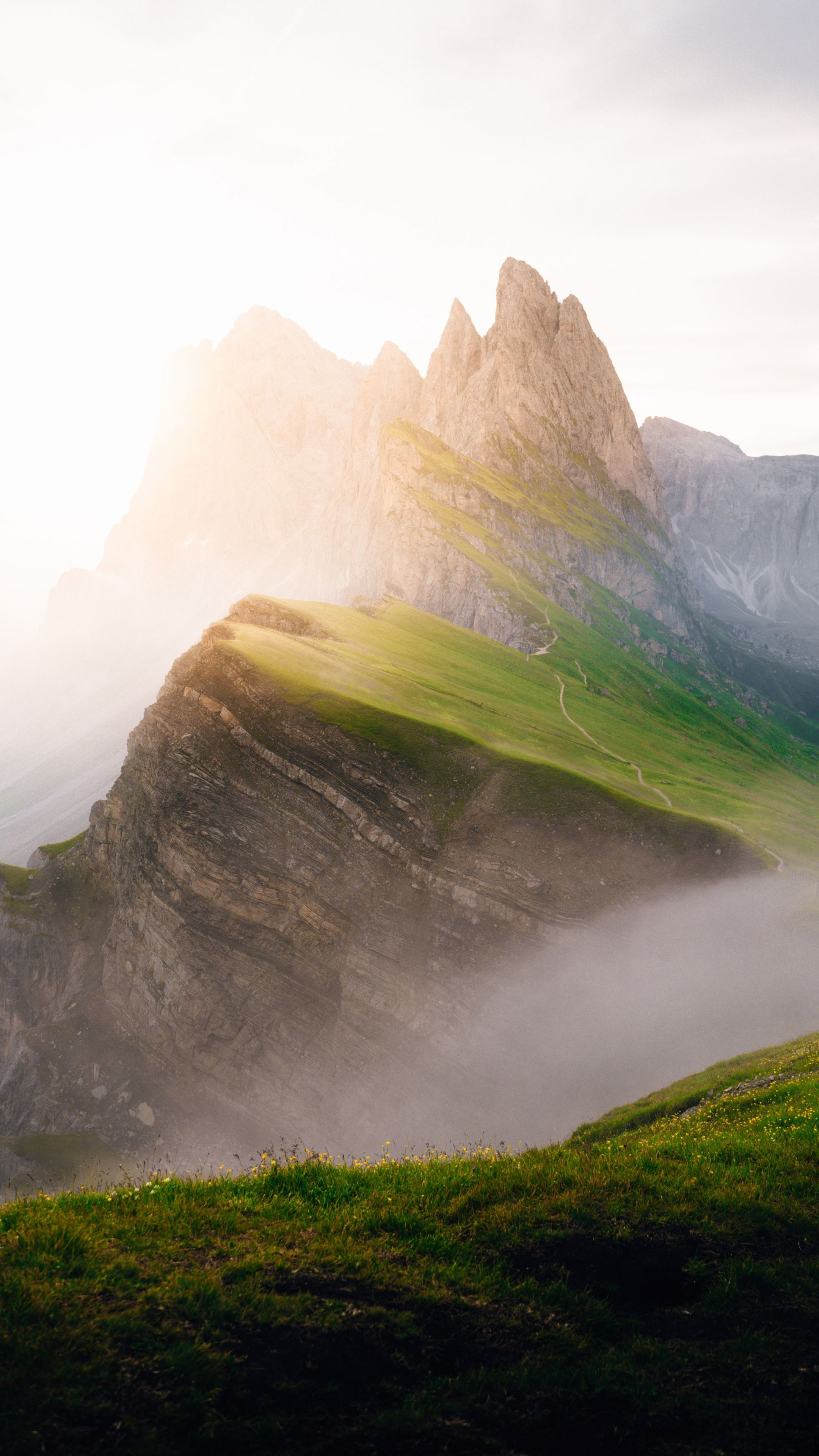 2160x3840 Mist Clouds Landscape Mountain Italy Wallpaper Nature Wallpaper Landscape Wallpaper
