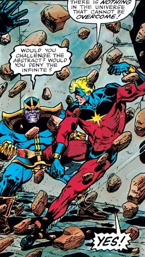 captain marvel vs thanos comics