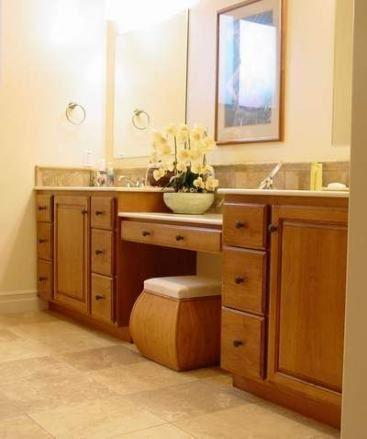 Bath room vanity with makeup area rustic 34 ideas #makeup ...