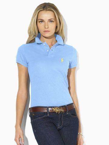 Skinny StyleIn Fit PolosMy Label Blue Polo 534ARjcqL