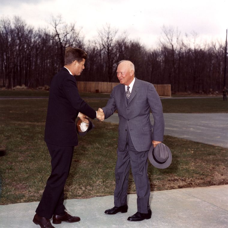 John F Kennedy Cuban Missile Crisis Quotes: Our Presidents Here's A Photo Of JFK And Eisenhower