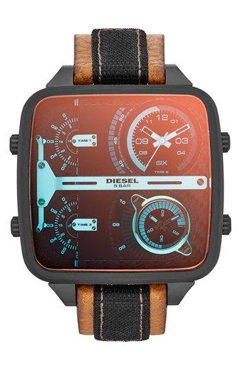 8326938cfa01 Diesel square watch