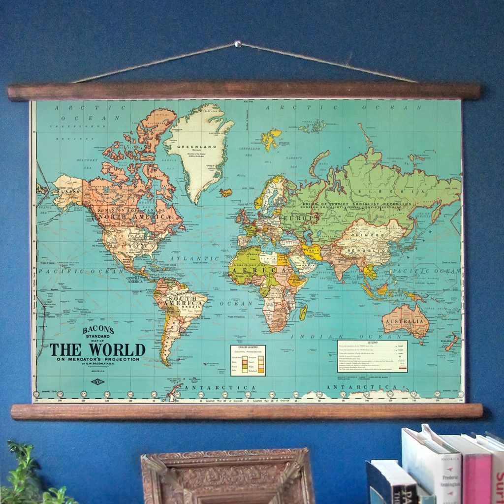 World Map Classroom style Pull Down What s next