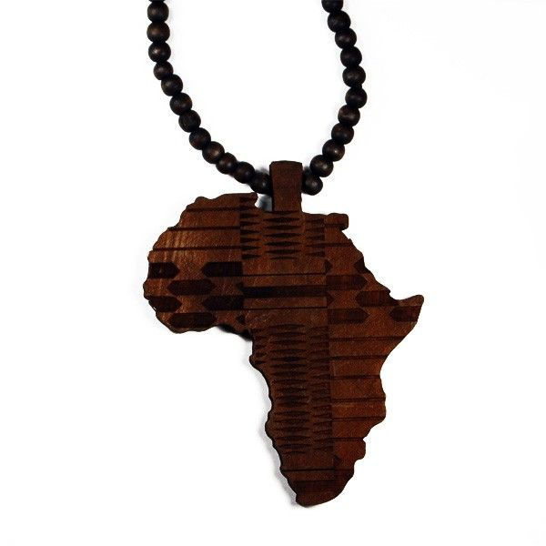 Oversize wooden africa necklace available in black or brown black oversize wooden africa necklace available in black or brown mozeypictures Choice Image