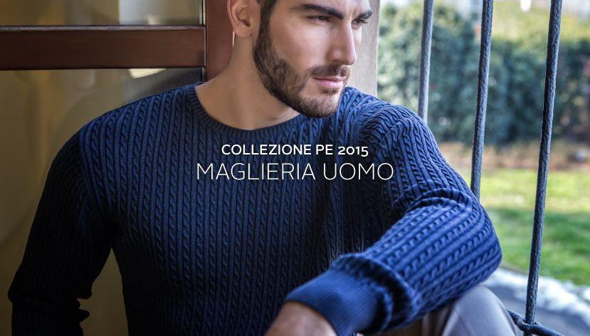 #Pullover in #maglialavorata per dare un tocco di #originalità ad un #classico per l' #uomo #pe2015 #purecotton #knitwear