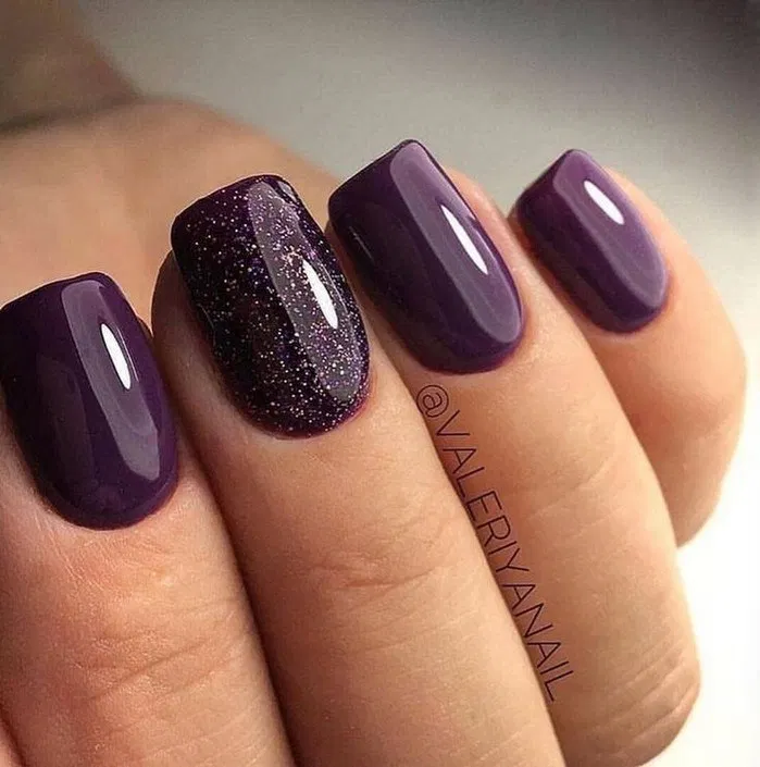 140 Gorgeous Nail Color Ideas For Women 14 Thereds Me Short Acrylic Nails Designs Short Acrylic Nails Purple Nails