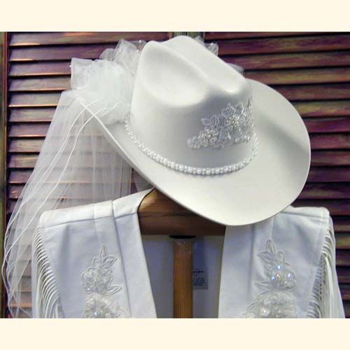 Cattleman Style Wedding Hat