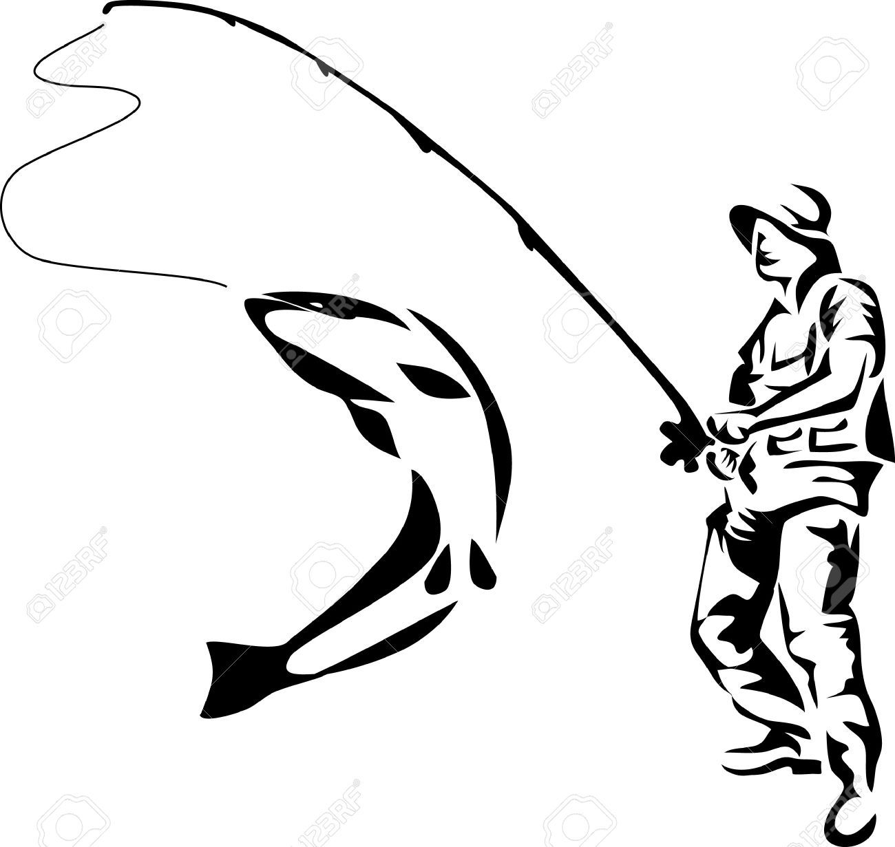 12 421 Fisherman Cliparts Stock Vector And Royalty Free Fisherman