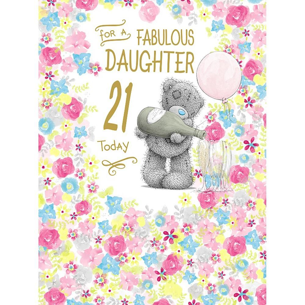 Daughter 21st Birthday Large Me To You Bear Card A 3 99 Cumpleaa Os