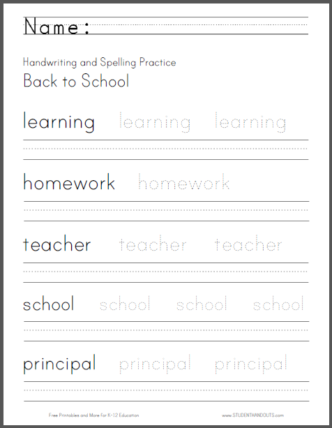 44++ Writing printable worksheets Top