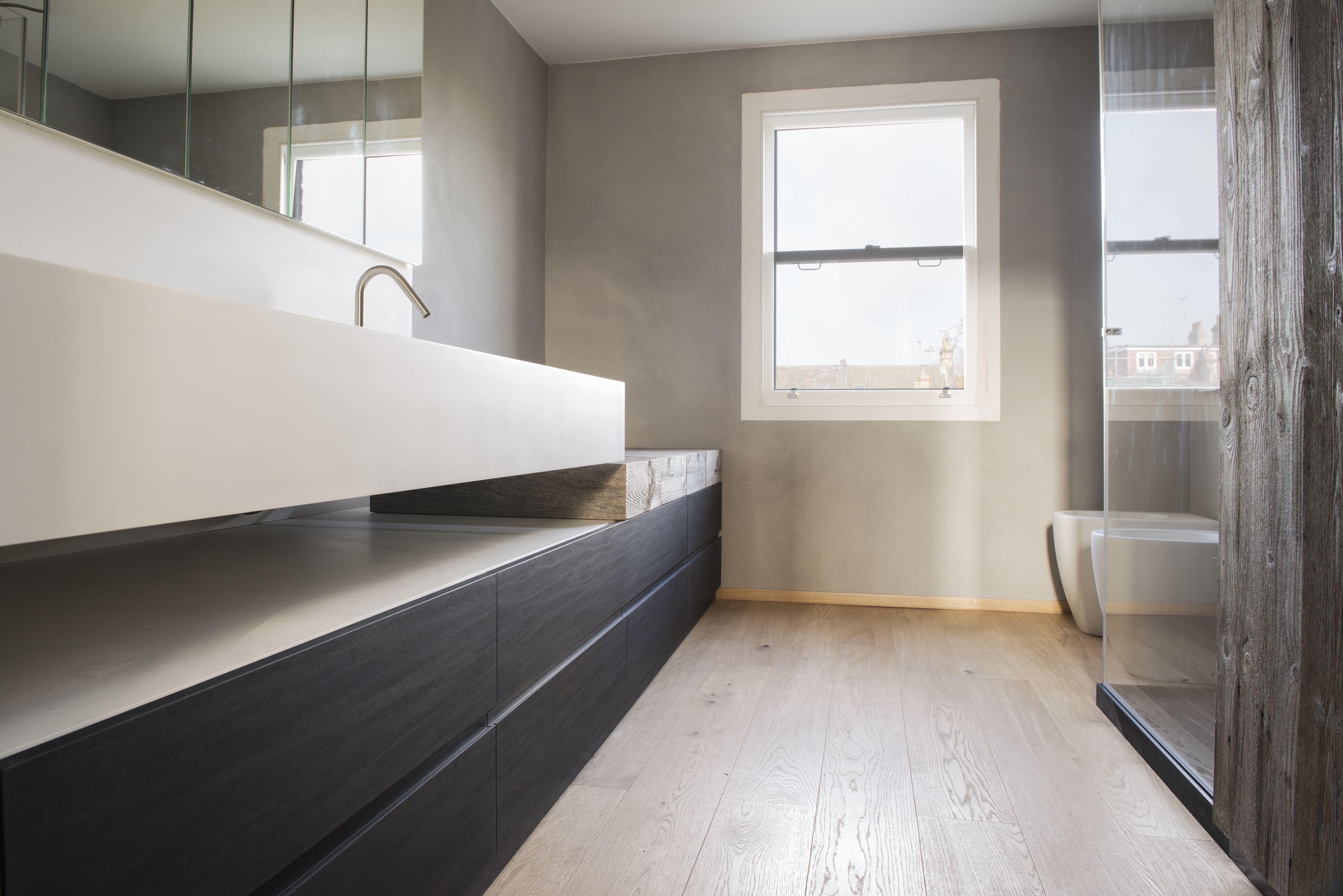 Progetto domestico in #london #bathroom #simonepiva.com #paperstone