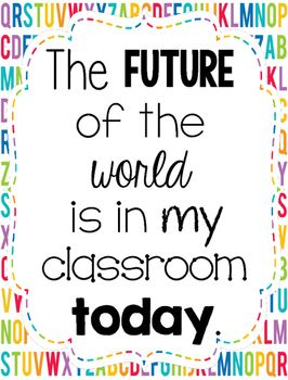 classroom quote the future of the world classroom quotes