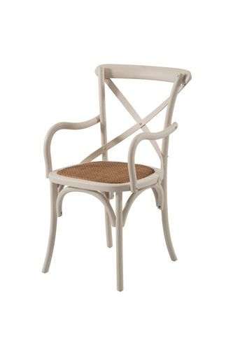 French Cross Dining Chair with Arms Products 1825 interiors Also available at Billy Tea Furniture wagga in white black & timre