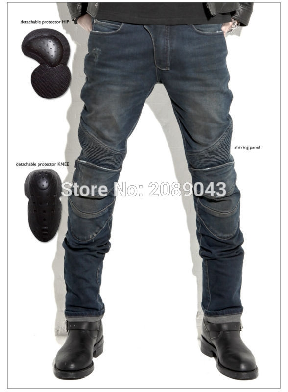 58.50$  Buy now - http://alie1x.worldwells.pw/go.php?t=32630232452 - uglyBROS Featherbed jeans The standard version car ride jeans trousers Motorcycle jeans Drop the jeans Blue and gray