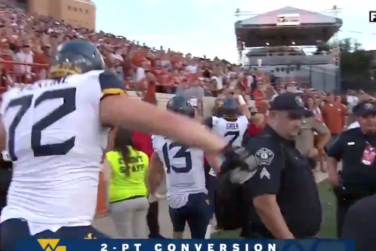 Will Grier was flagged for the absolute perfect
