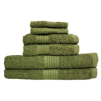 j&m home fashions provence 6 piece 100% cotton towel set