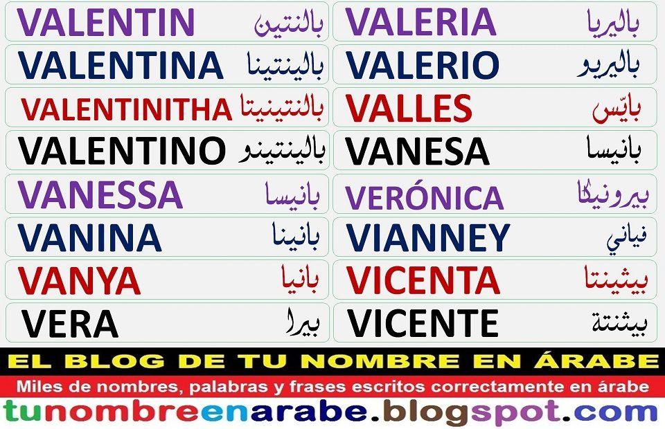 Plantillas De Tatuajes Arabes De Nombres U V W Nombres En Letras