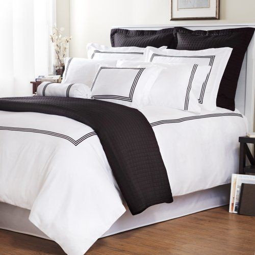 Save 123 40 53 Discount Roxbury Park Baratto Duvet Set Queen With Tripple Black Embroidered Stripes Home Home Bedroom White Duvet Covers