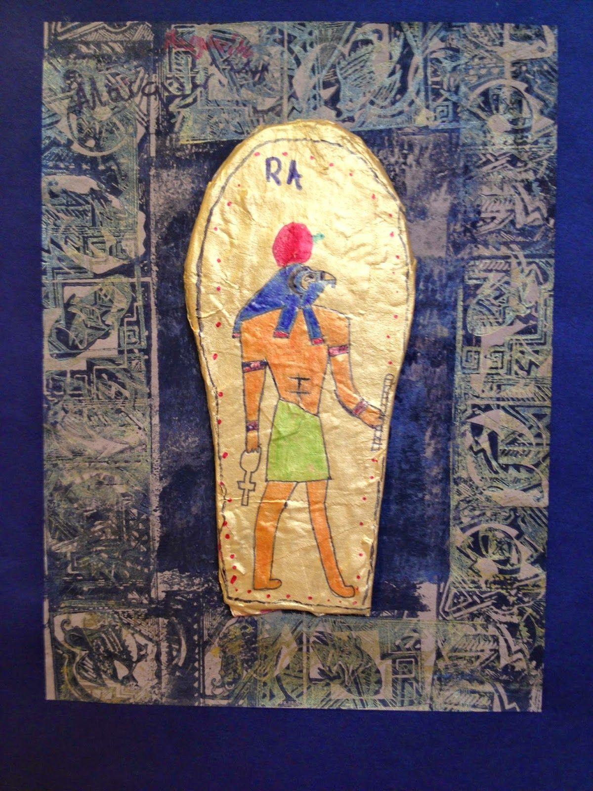 Paper Mache Sarcophagus Grade 6
