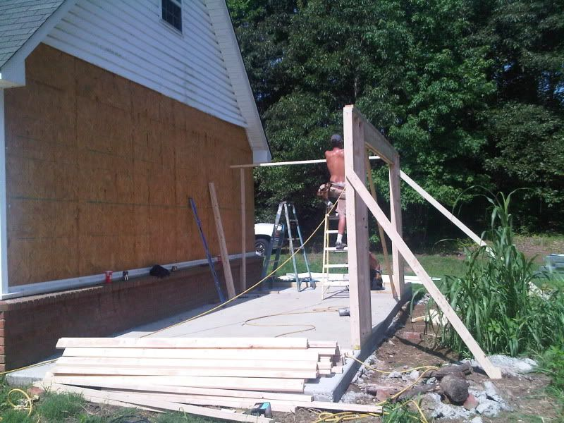 My lean to addition finally pic heavy the garage for Lean to garage addition