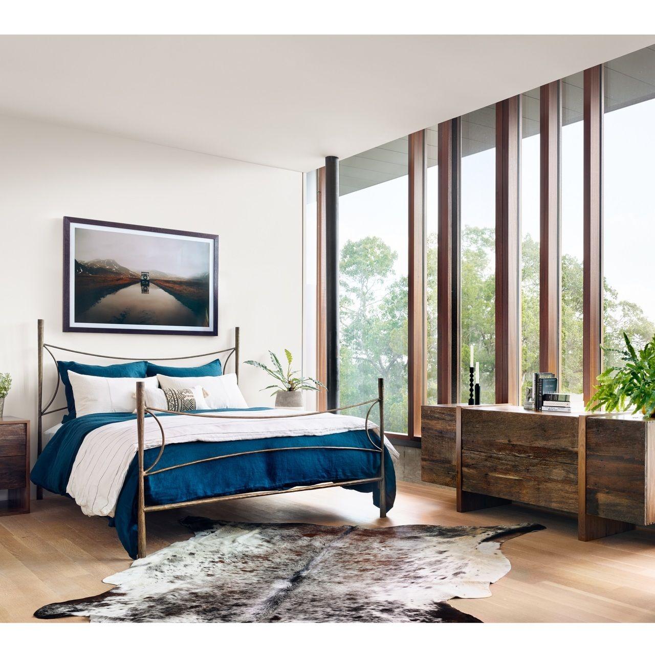 mountain home bedroom decor alberto antique brass queen bed frame