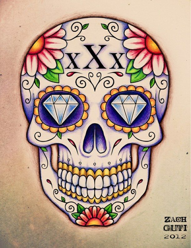 Flower Sugar Skull Tattoo Tumblr | www.pixshark.com ...