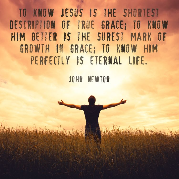 "Quote by Christian John Newton on knowing Jesus. ""To know ..."