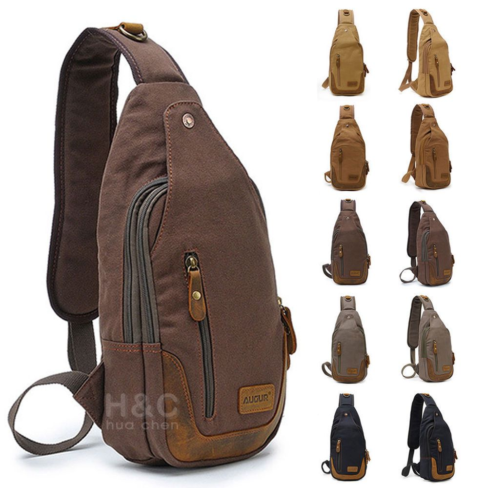 93baf2bc82 Messenger Bags. Men s canvas Sling Bag Cross Body Hiking Messenger Bag Small.  Colour  Coffee