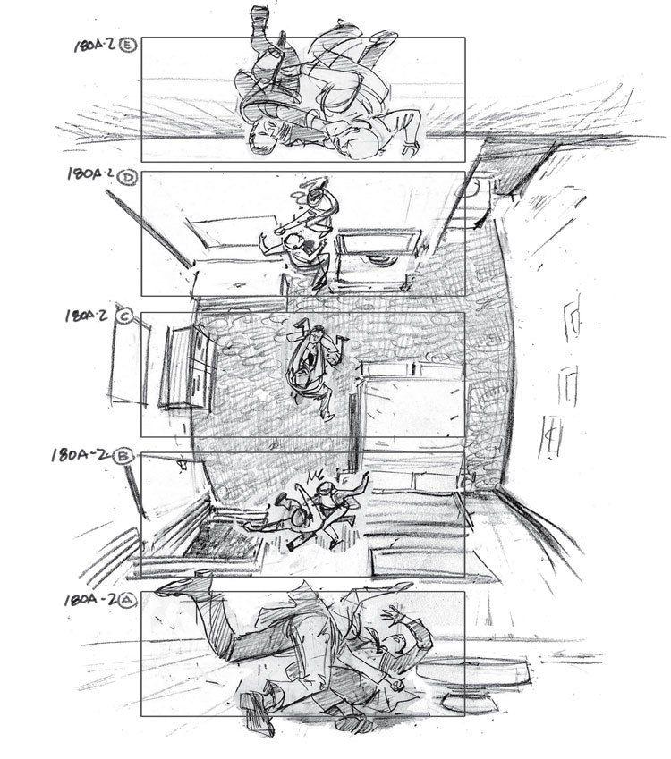 inception-storyboard-by-Gabriel-Hardman | Storyboard examples, Storyboard artist, Storyboard film