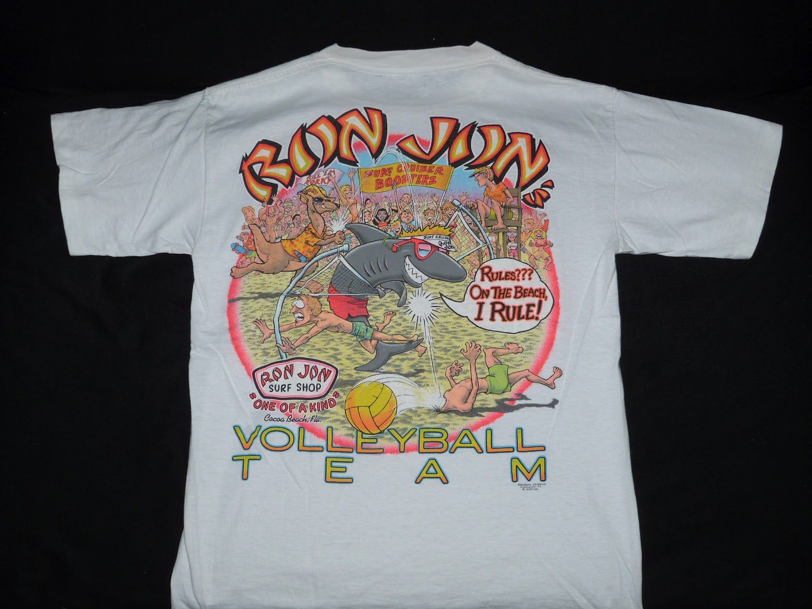 Surfing Shirts Fifty2weekhi Vintage 80 S Ron Jon Surf Cocoa Beach Fla T Shirt