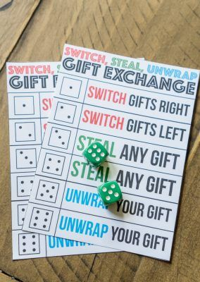 Printable Switch Steal Unwrap Gift Exchange Game Idea