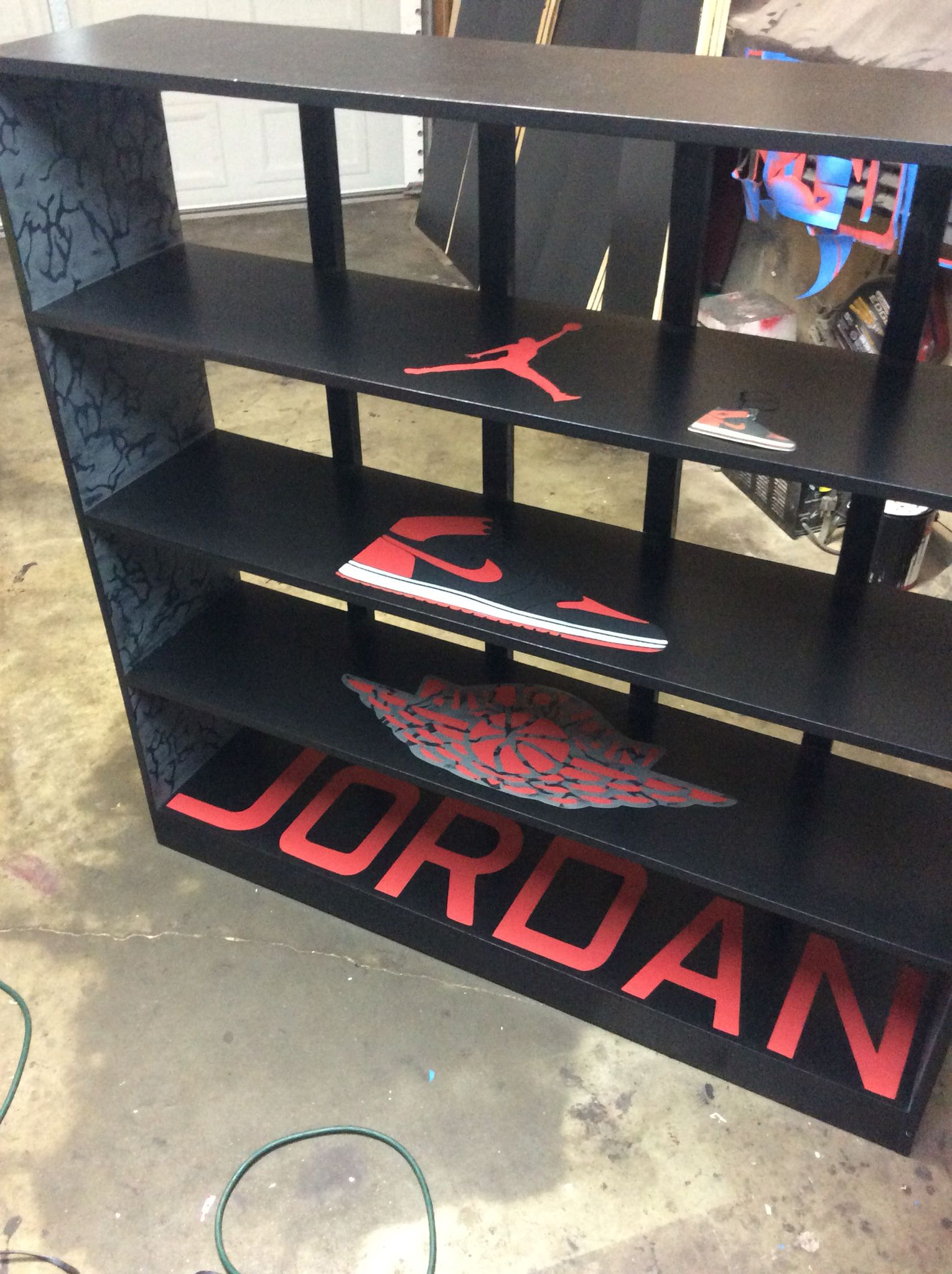 Custom Jordan Shoe Shelves