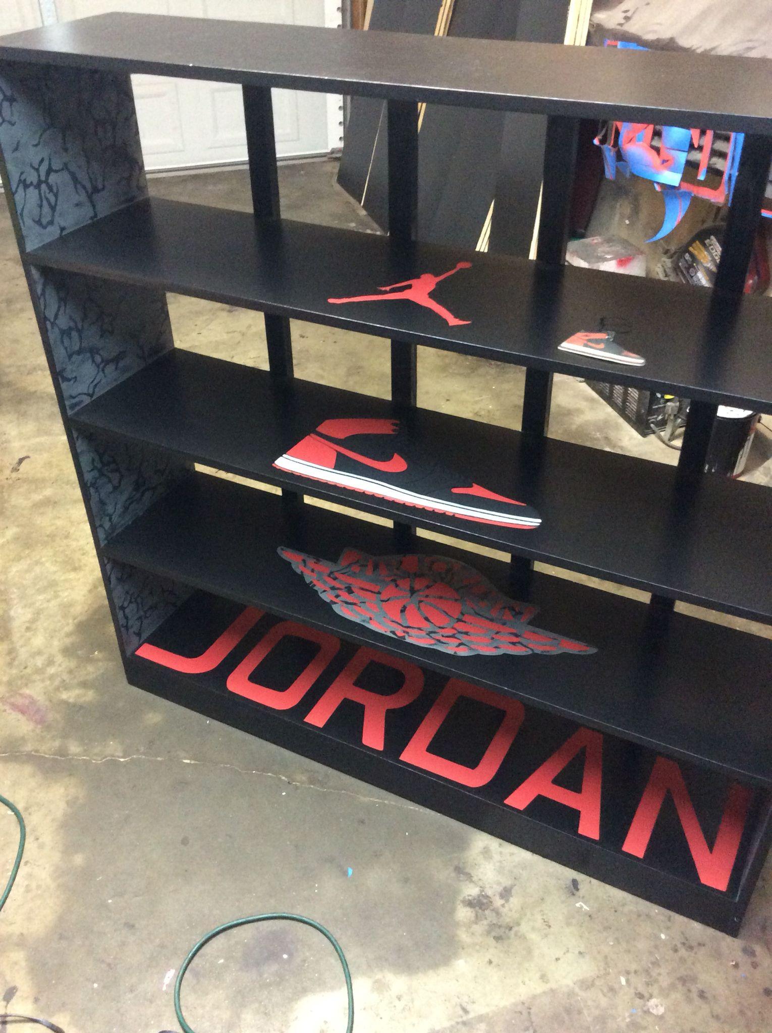 Custom Jordan Shoe Shelves Shoe Shelves Shoe Box Storage