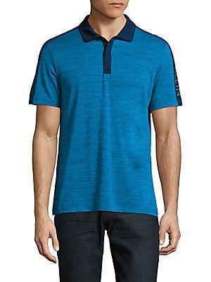 Calvin Klein Space-Dye Colorblock Polo Shirt -