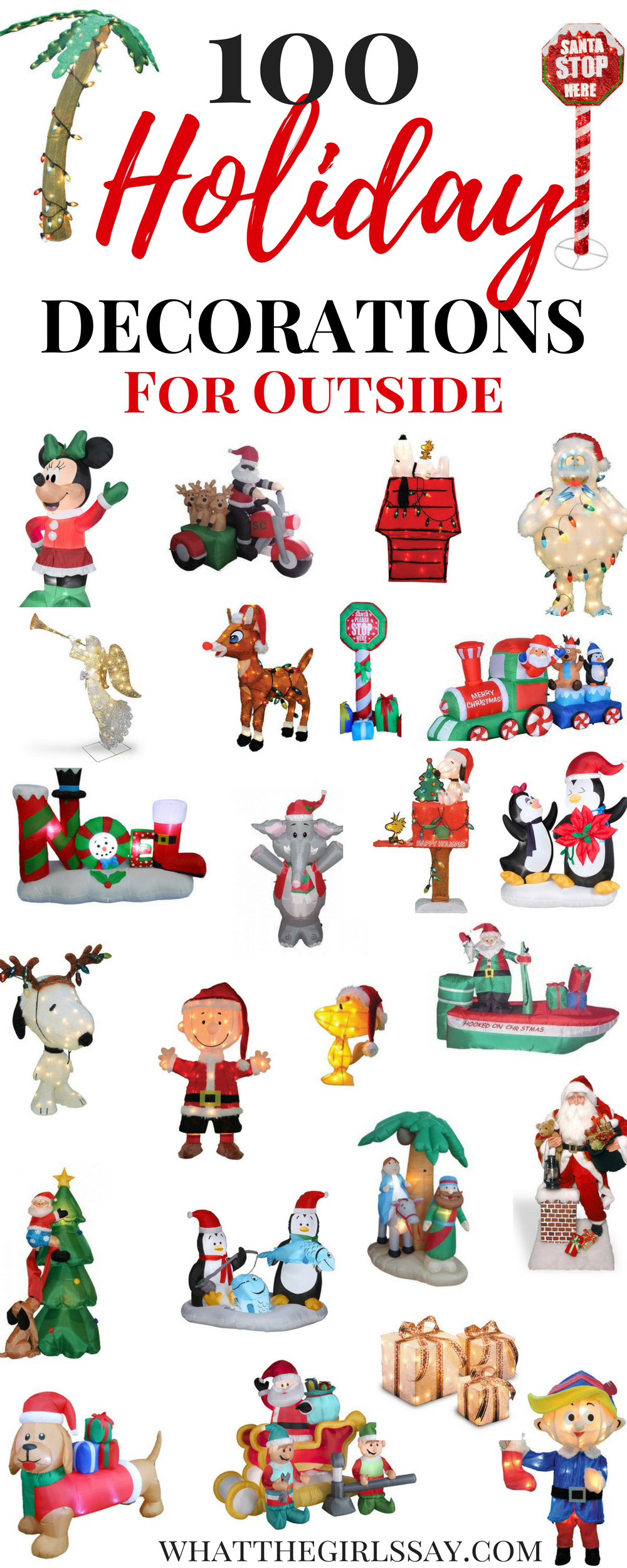 100 Outdoor Christmas Decorations