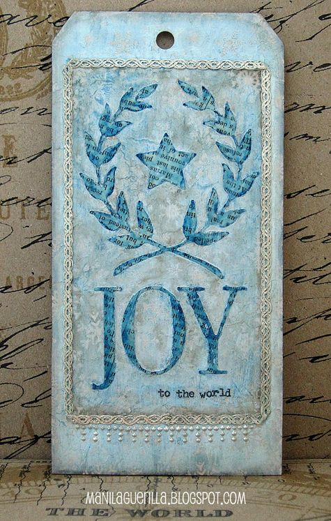 beulah bee 12 tags for christmas 2017 joy to the world