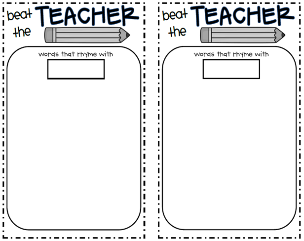"""Beat the Teacher"""". The idea of the game is to have the class work ..."""