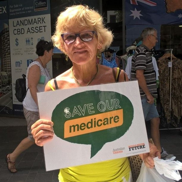 Peace of mind means not knowing you've got it. That's Medicare ... a high quality responsive comprehensive healthcare system paid through tax and not your credit card. Hands off Turnbull. #ausunions #queenslandunions
