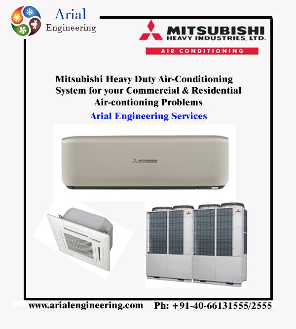 mitsubishi Heavy Duty Air-conditioning System #hvac #vrf | Arial ...