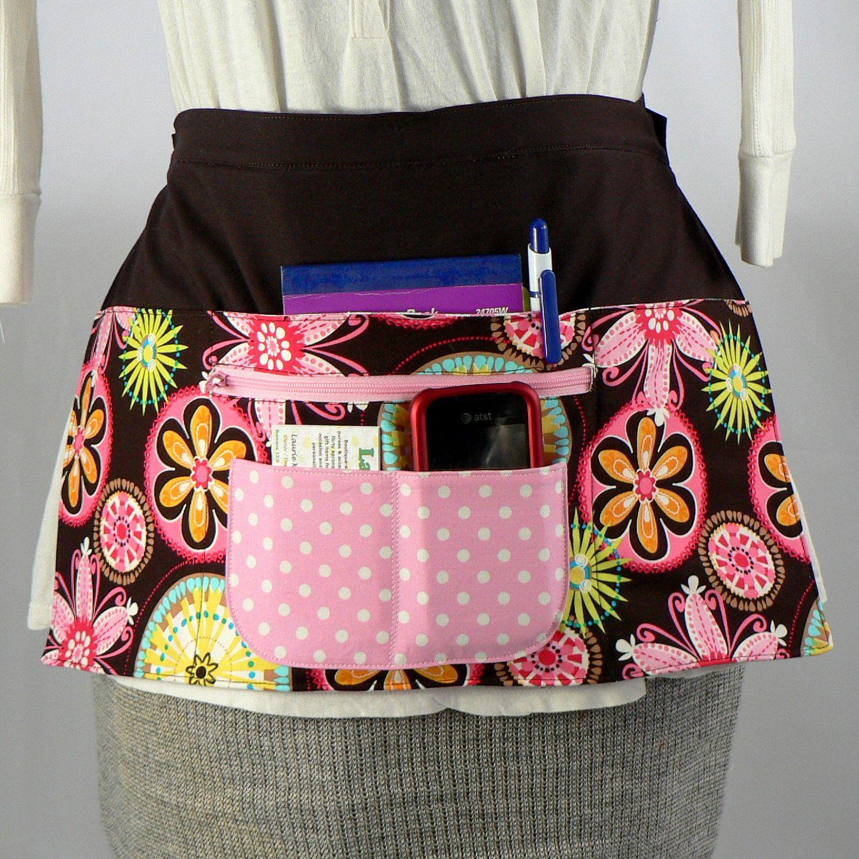 White half apron with pockets - Aprons Vendor Half Utility Apron 6 Pocket