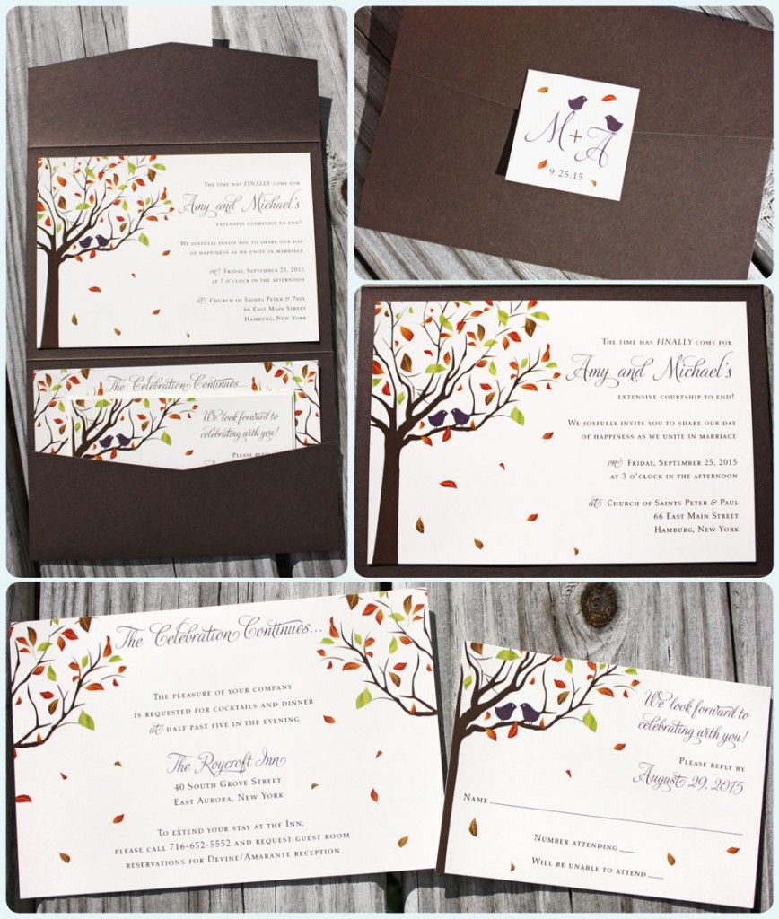 Perfect For Any Fall Wedding These Custom Pocketfold Wedding