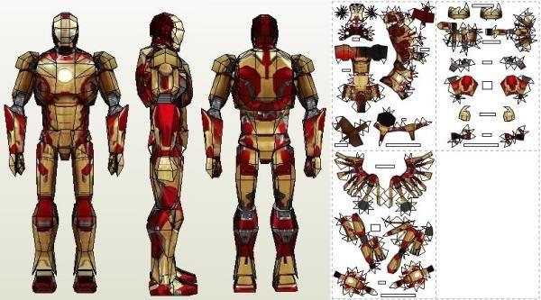 and cut iron man 3 tan...