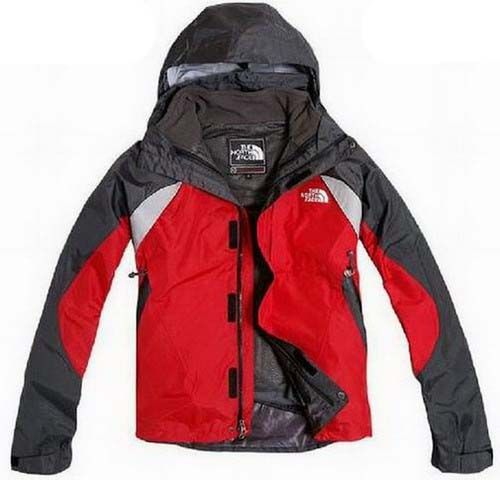 Cheap North Face Mens Triclimate 3 In 1 Jacket Black Red