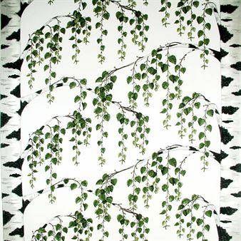 Arvidssons Textil Björkliden-kangas monivärinen