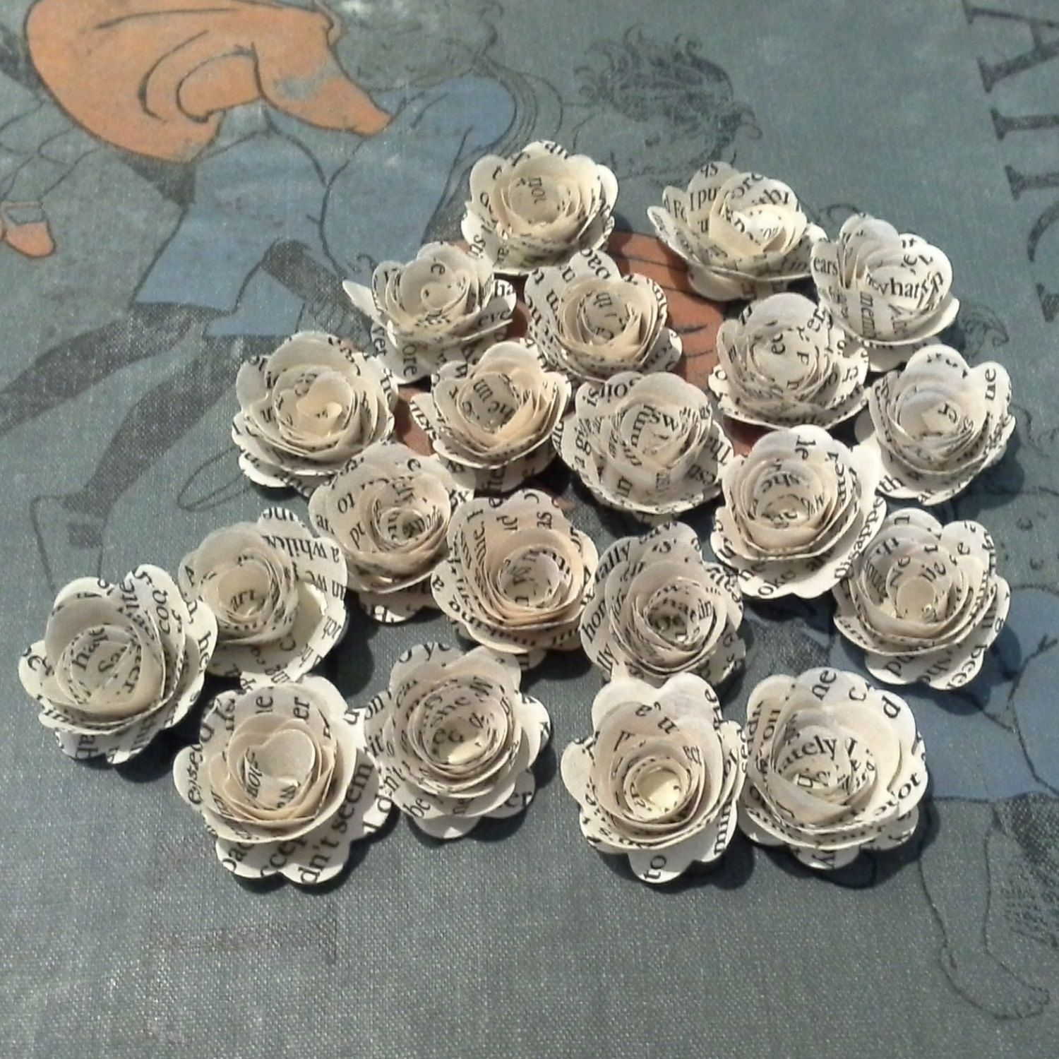 25 book page rolled roses perfect for weddings decorations invitations paper crafts