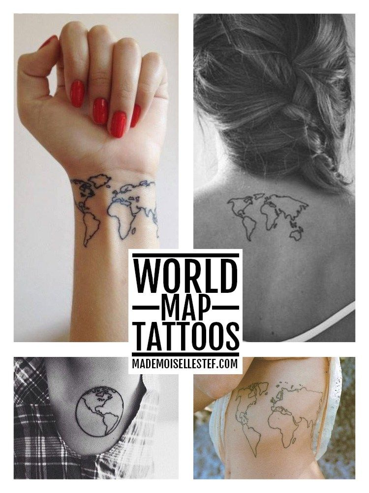Tattoo ideas 32 world map i tattoo and nouveau tattoo tattoo ideas 32 world map i gumiabroncs Gallery